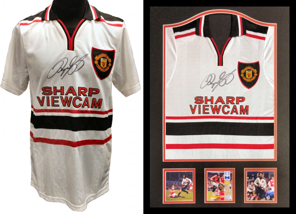 Ryan Giggs Signed Manchester United 1999 White Away shirt