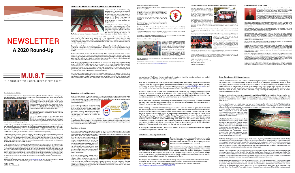 Please download your 2020 End of Year Newsletter via the link herer https://www.imust.org.uk/Content/docs/MUST-2020-Newsletter-2020-12-31.pdf