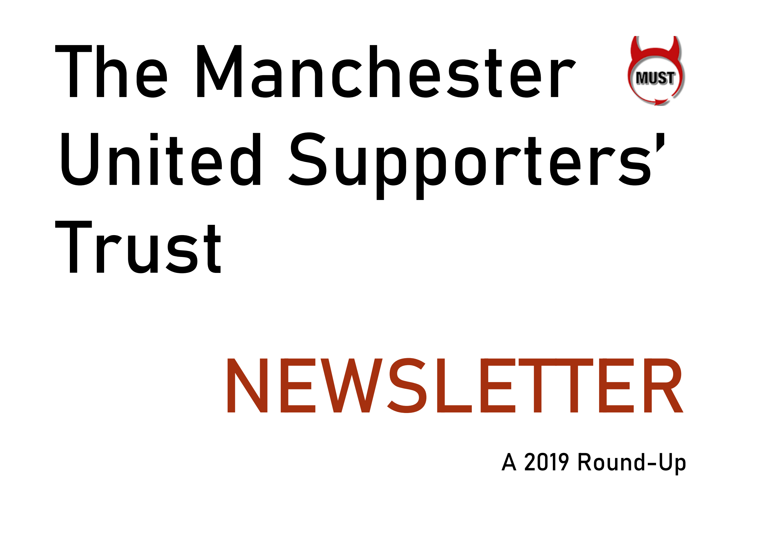 Click here to download the 2019 end of year MUST newsletter